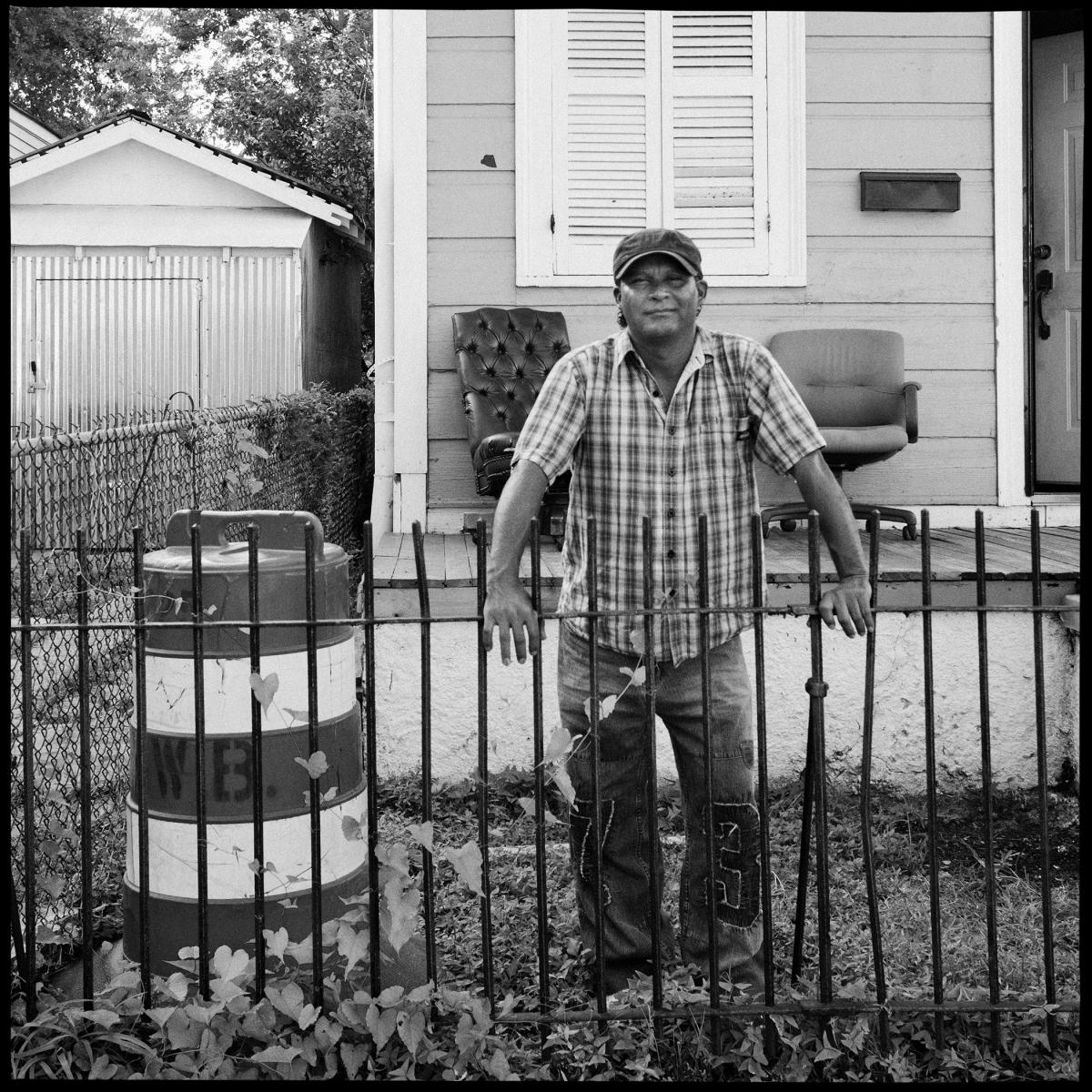 """The Ogden Museum of Southern Art's """"The Rising"""" exhibition includes portraits (by photographer Jonathan Traviesa) of the day laborers who helped rebuild New Orleans after Hurricane Katrina."""