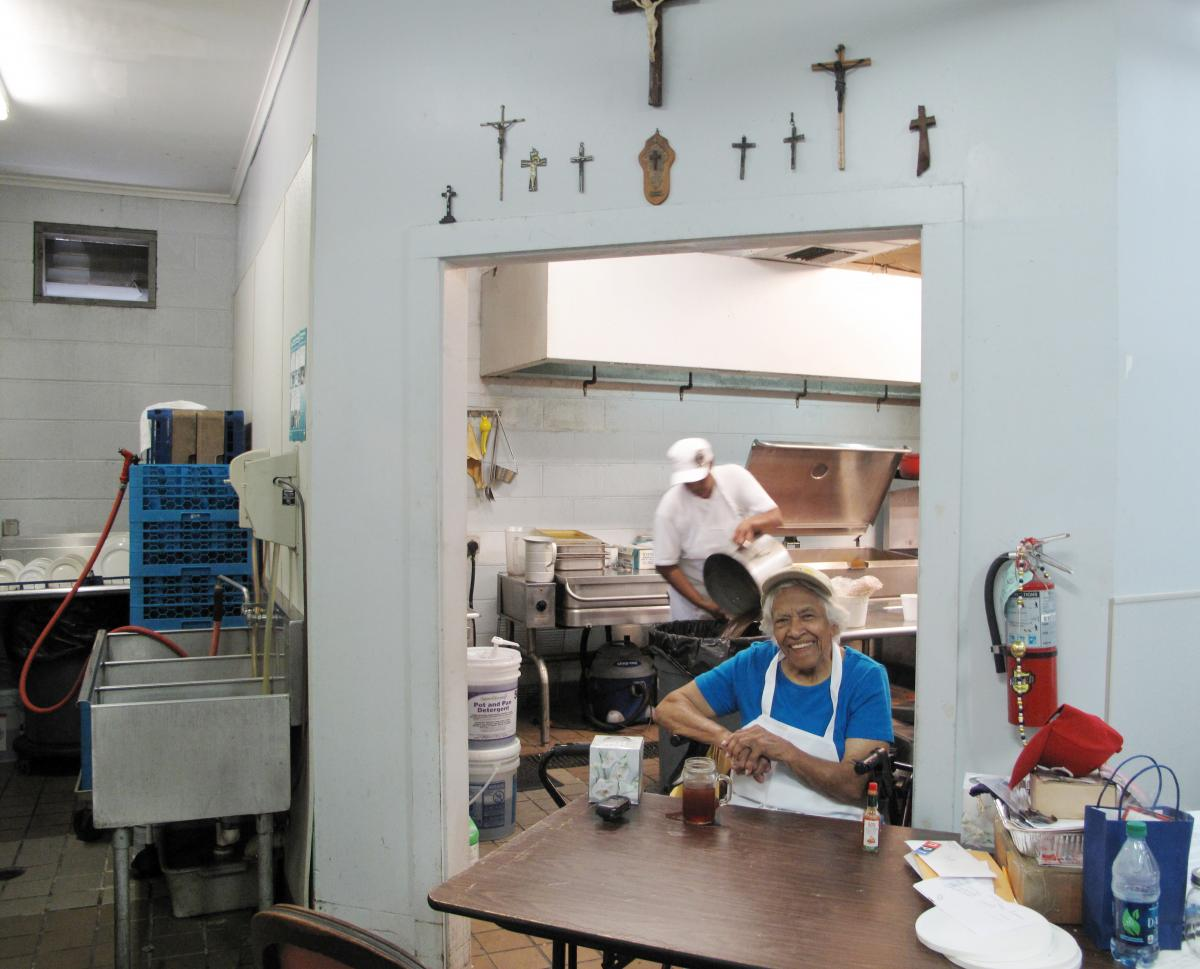 Chef Leah Chase, 92, here in the kitchen of Dooky Chase, had no qualms about rebuilding the restaurant her father-in-law opened in 1941 in New Orleans' Treme neighborhood.