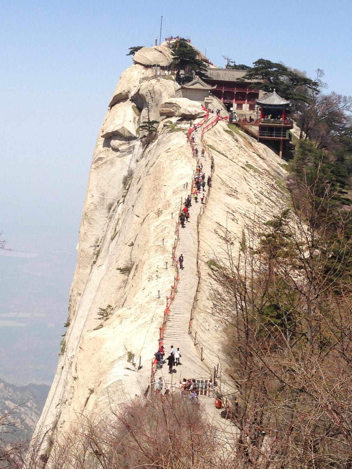 You can get a cup of tea at Cuiyun Palace on the west peak of Mount Hua.