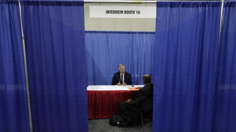 A man interviews for a job in Detroit. The unemployment rate for black Americans in Michigan was 18.7 percent in 2012, more that twice the rate for whites in the state.