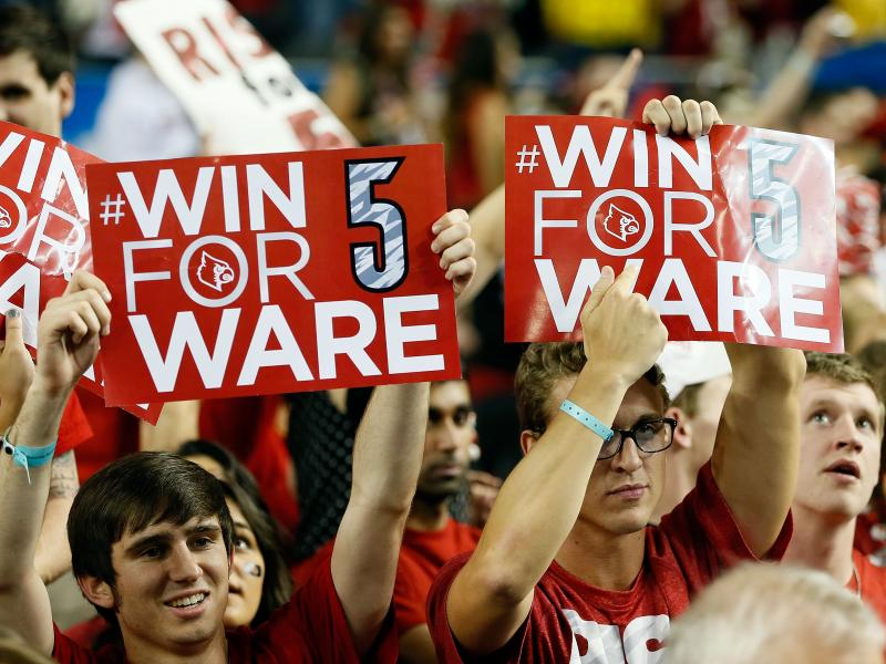 The leg injury to Louisville guard Kevin Ware has been a rallying point for fans nationwide. But the University of Louisville is hoping to avoid looking like they're taking advantage.