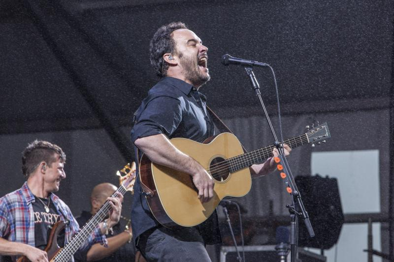 Dave Matthews' rain-soaked set at Jazz Fest 2013.