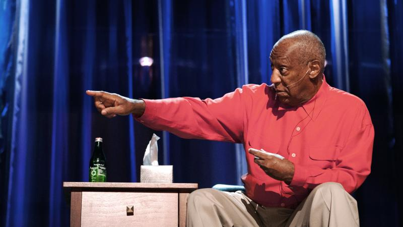 Bill Cosby performs his stand-up special, Far From Finished. The actor and comedian has been working in show business for 50 years.