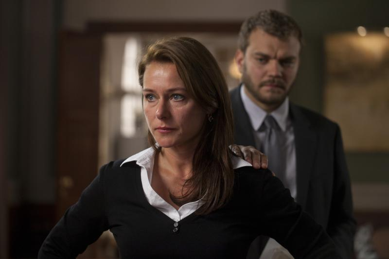 Borgen's heroine is Birgitte Nyborg, superbly played by Sidse Babett Knudsen. Pilou Asbaek plays Don Draper-ish spin doctor Kasper Juul.