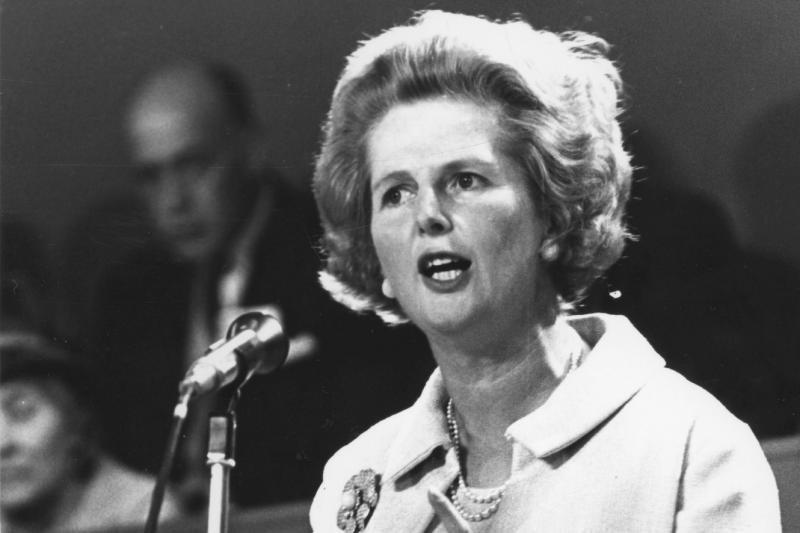 Margaret Thatcher became Britain's first female prime minister in 1979 and served until 1990. In 1992, she was elevated to the House of Lords to become Baroness Thatcher of Kesteven. Thatcher died Monday at age 87 following a stroke, her spokesman said.