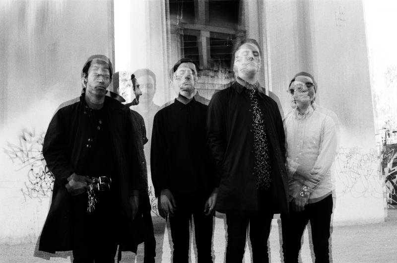 """George Clarke (second from right) says that before Deafheaven began making its third album, New Bermuda, """"The only real place to go was down.'"""