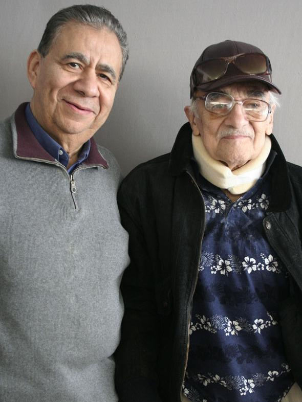 """Ruben Aguilar (right), 85, spoke with his friend Bill Luna, 77, about being deported to Mexico at age 6: """"I grew up when that happened. From 6 years old, all of a sudden I felt like I was 15."""""""