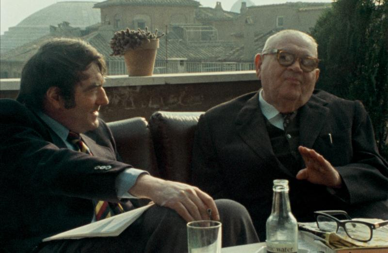 In 1975, Shoah director Claude Lanzmann (left) interviewed Benjmain Murmelstein, the last surviving Elder of the Jews of the Czech Theresienstadt ghetto, at his home in Rome. The resulting film is The Last of the Unjust.