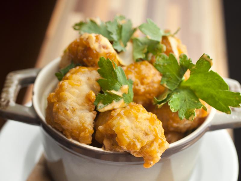 Tastes like chicken, but it's OK for Lent: Fried alligator, as served at New Orleans' Cochon restaurant.
