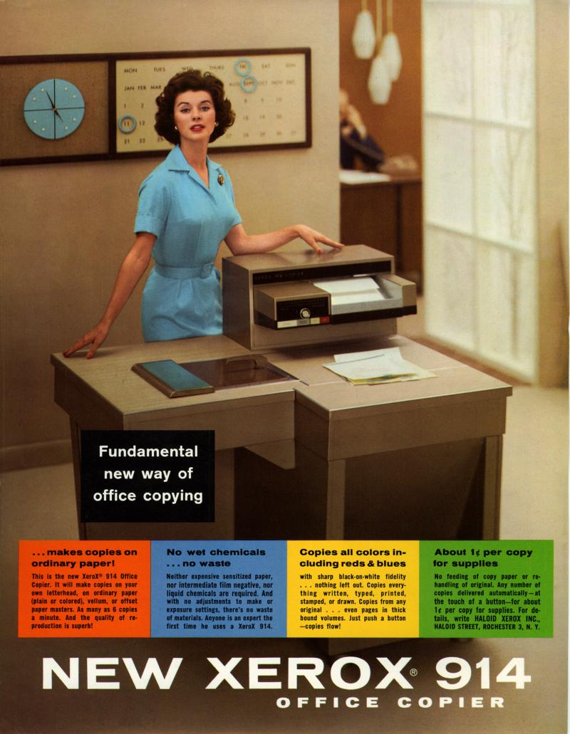 A September 1959 advertisement for the Xerox 914