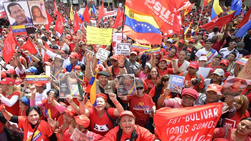 Venezuelan President Hugo Chavez remained in Cuba, where he's receiving treatment for cancer, and was not present for his planned inauguration in Caracas on Thursday. However, thousands of supporters gathered outside the presidential palace to show their