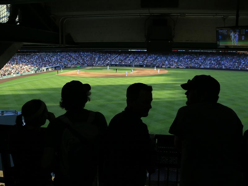 Fans take in the view of the outfield at Denver's Coors Field as the San Diego Padres face the Colorado Rockies in June.