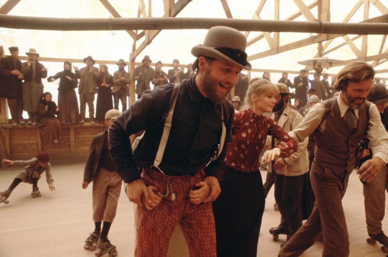 Jeff Bridges as John L. Bridges, Isabelle Huppert as Ella Watson and Kris Kristofferson as James Averill in the 1980 Western Heaven's Gate, a director's cut of which was released in November.