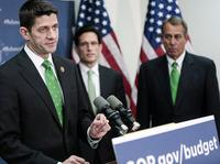 Wisconsin Rep. Paul Ryan speaks about his new budget plan after a March 19 party conference.