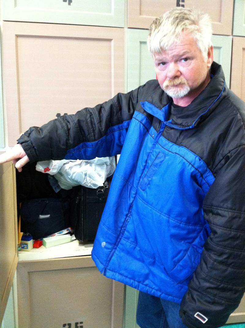 Roger Bottomley of Fairfax, Va., has been homeless for 10 years. He expected to get a housing voucher, but then his appointment with the local housing authority was canceled because of sequestration. He keeps his belongings in a locker at a homeless day c