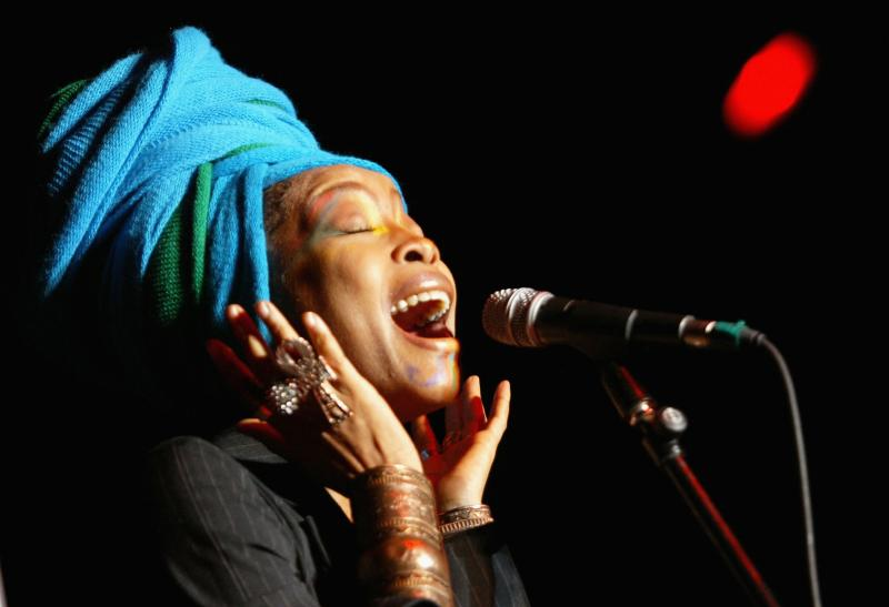 Erykah Badu performs as part of the Sugar Water Festival at the Greek Theatre on Aug. 9, 2005, in Los Angeles, Calif.