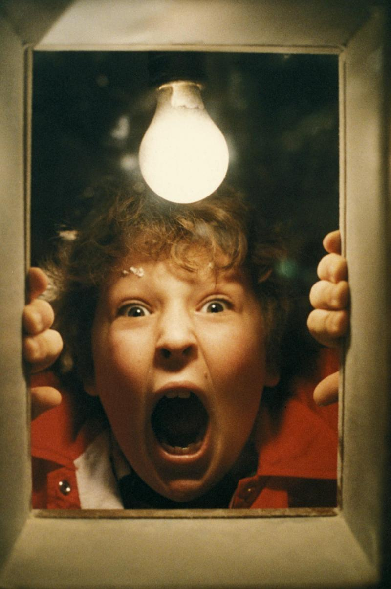 Actor Jeff Cohen in a scene from The Goonies.