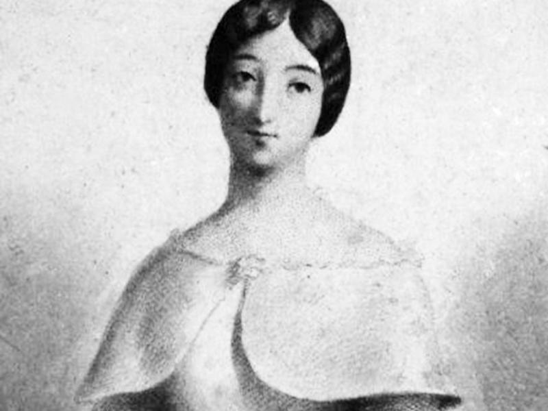 Portrait of Marie Duplessis by Charles Chaplin (1846)