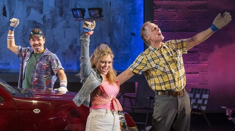 Keith Carradine (right) performs with the cast of Hands on a Hardbody during its spring 2013 run in New York.