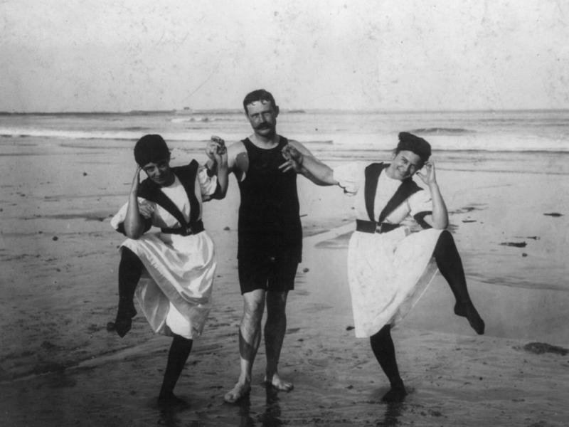 Bathers at the beach, 1897.