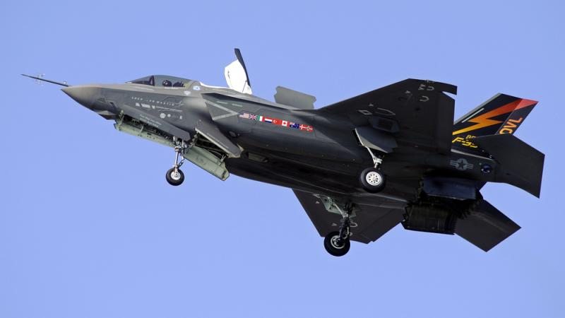 A Marine Corps F-35B Joint Strike Fighter does a short takeoff (STOVL) from Patuxent River Naval Air Station, Md., in 2011. Eighteen years after development began, a version of the plane designed for the Marine Corps is expected to be deemed
