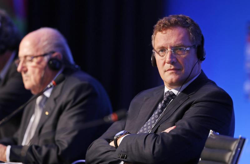 FIFA Secretary-General Jérôme Valcke (right) and FIFA President Joseph