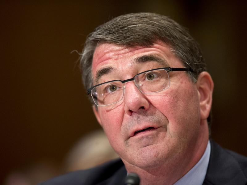 """Defense Secretary Ash Carter testifies on Capitol Hill in Washington earlier this month. In an interview on CNN Sunday, Carter complained that Iraqi forces lacked """"the will to fight"""" the self-declared Islamic State."""