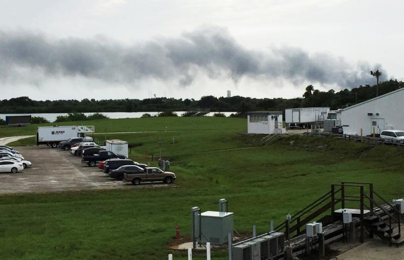 SpaceX launch pad blast blow for NASA
