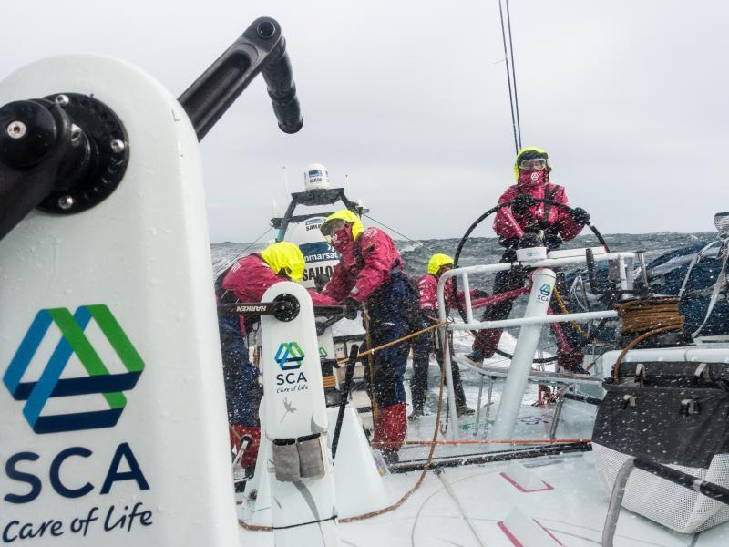 Leg 5 from New Zealand to Itajai, Brazil aboard aboard Team SCA in March.
