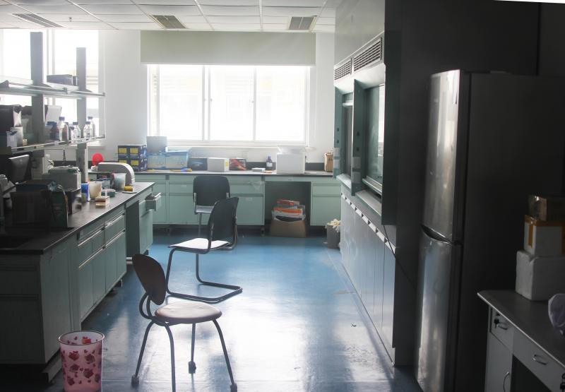 An empty lab used by China Enriching Chemistry, which was accused of shipping illegal drugs to the U.S. Eric Chang, the company's director, is currently in jail in China, where he was charged with producing ecstasy.