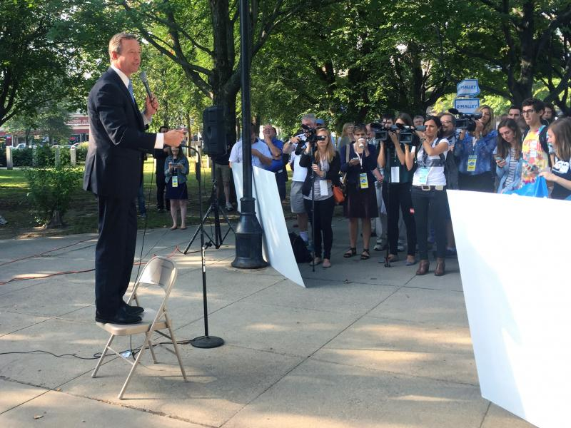At a recent campaign rally in New Hampshire, only a few dozen people showed up to hear former Gov. Martin O'Malley. Many of them were reporters; others were bused in by the candidate's campaign.