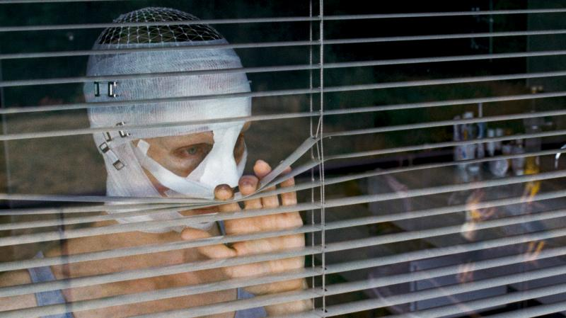 Susanne Wuest plays a mother who has returned home to her children after reconstructive surgery in Goodnight Mommy.