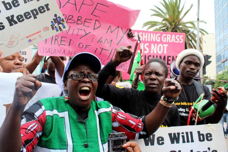 In March, demonstrators in Nairobi demanded tougher punishment for assailants of women and girls.