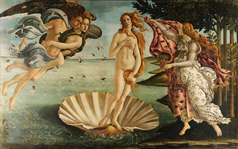 The Birth of Venus, by Sandro Botticelli, depicts the goddess of love floating on a giant scallop shell. The word aphrodisiac derives from her Greek name, Aphrodite.