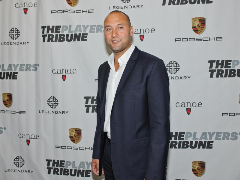 Derek Jeter attends the launch party for his new website, The Players' Tribune, on Feb. 14 in New York City. The site is a platform for athletes to talk directly to fans.