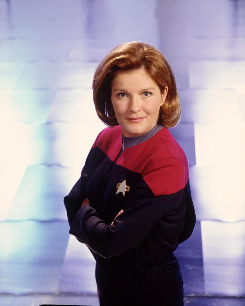 Mulgrew starred as Captain Kathryn Janeway, the first woman to command a Federation Starship, in Star Trek: Voyager.