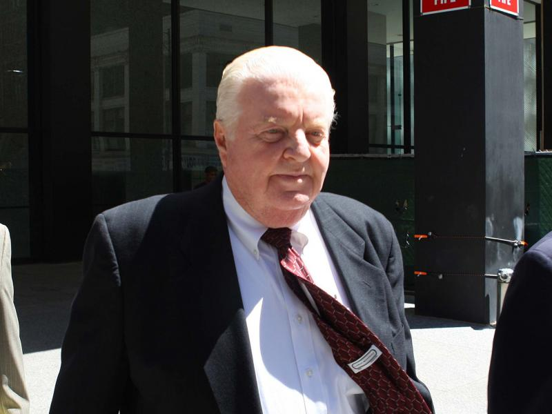 Former Chicago police Cmdr. Jon Burge walks into the Dirksen U.S. Courthouse in Chicago in June 2010. He was convicted on all counts of an indictment charging him with perjury and obstruction of justice.