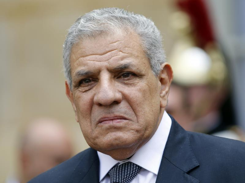 Egyptian Prime Minister Ibrahim Mehleb in a photo from May. Mehleb resigned his post today, paving the way for a new Cabinet.