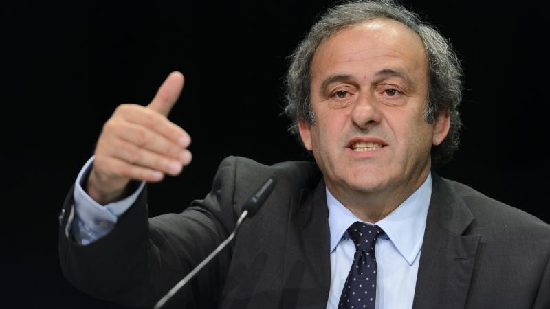 """UEFA President Michel Platini says his organization is backing FIFA President Sepp Blatter's opponent in Friday's presidential election. When asked if UEFA might consider leaving FIFA, Platini said, """"Of course."""""""