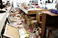 The inside of J-Mart Wigs after riots left the store in shambles.