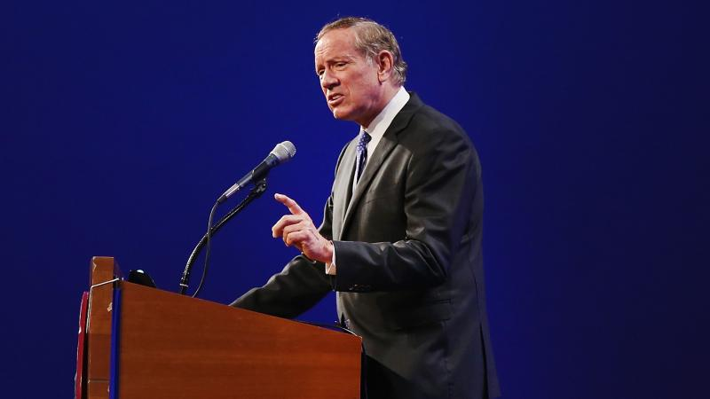 Former New York Gov. George Pataki, seen here speaking in Iowa recently, is announcing his campaign for the Republican presidential nomination in 2016.