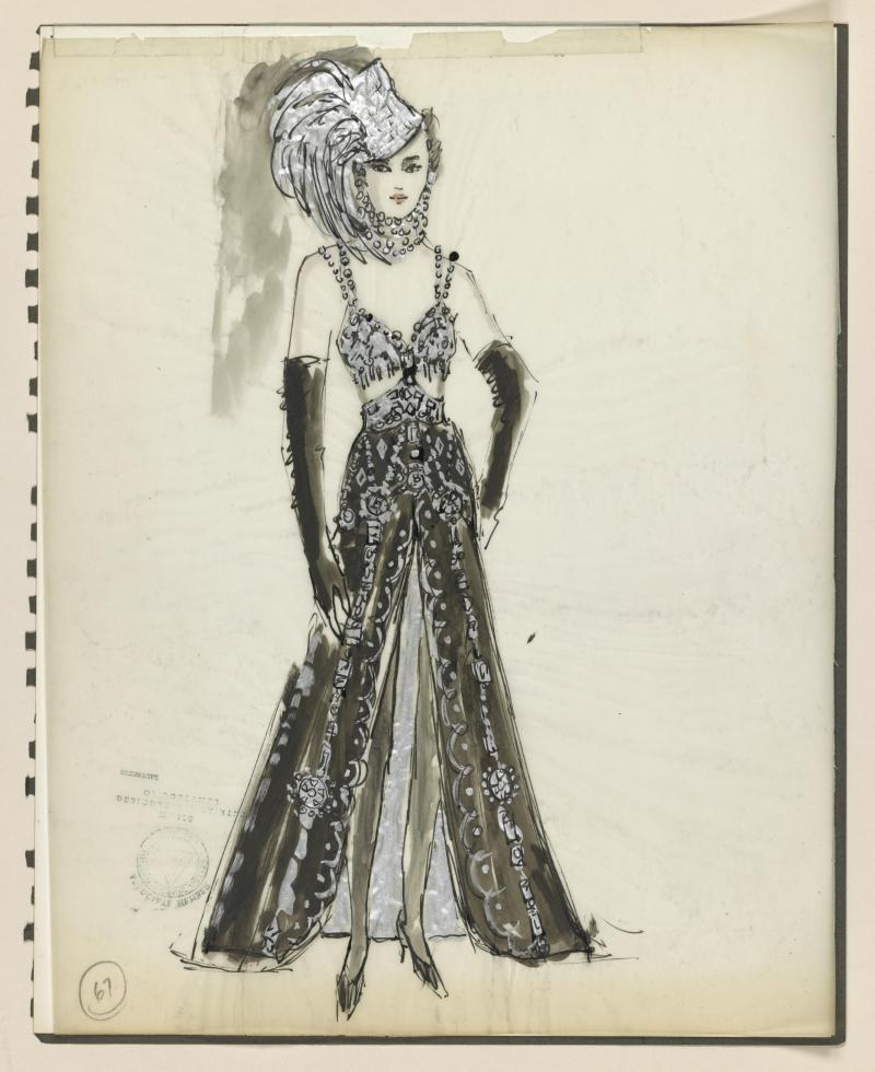 Florence Klotz's costume design for Follies, which opened in 1971.