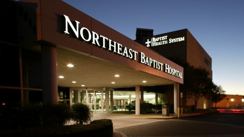 Northeast Baptist Hospital, one of five hospitals within the Baptist Health System in San Antonio.