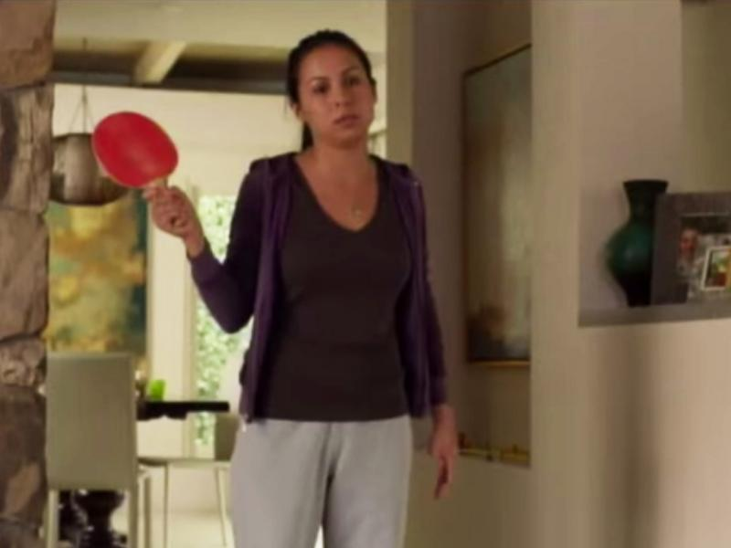 A screenshot from Enough Said shows actress Anjelah Johnson-Reyes, the only nonwhite actor in the 2013 hit starring Julia Louis-Dreyfus and James Gandolfini.