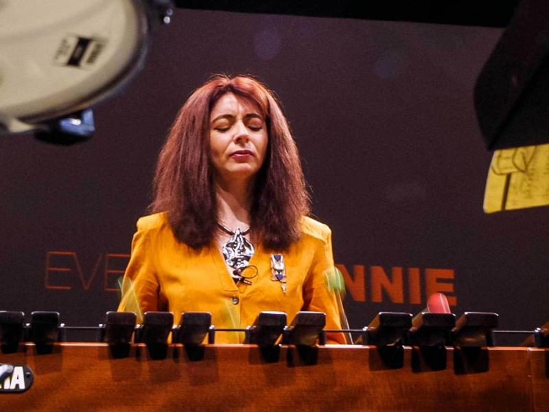 "Deaf percussionist Evelyn Glennie says she thinks of the entire body as ""a big ear."""
