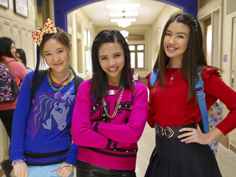 Sun Hi (Megan Lee), Jodi (Louriza Tronco) and Corki (Erika Tham) star in Make It Pop.