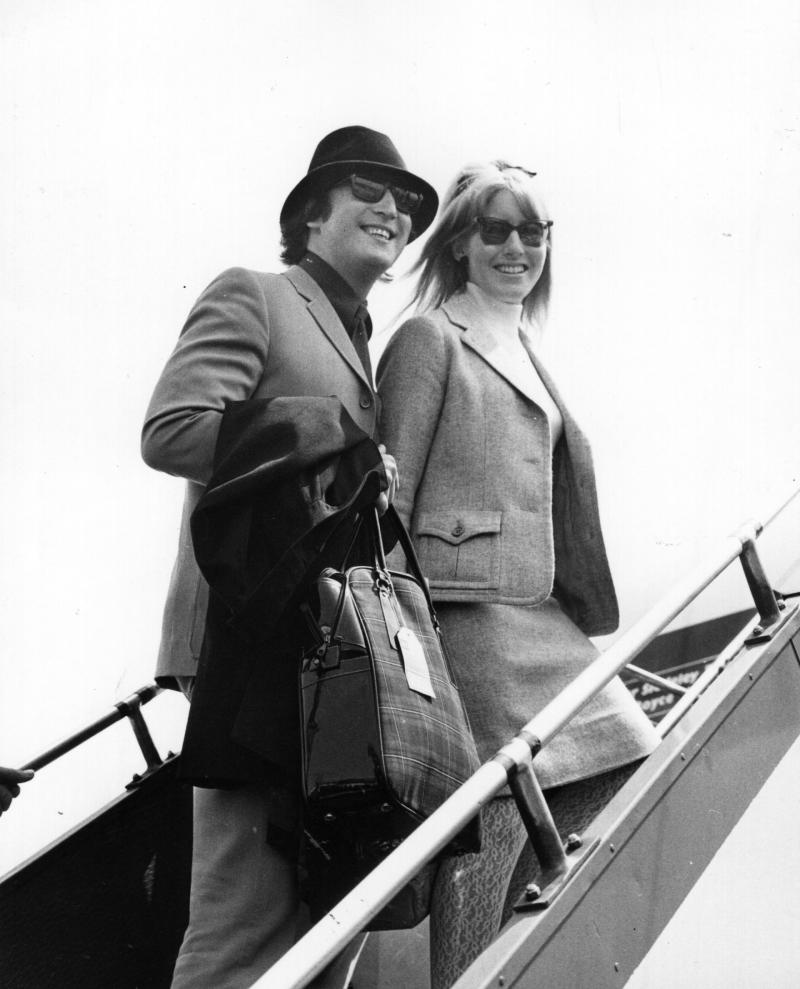 """In 1985, Cynthia Lennon said that touring with The Beatles was """"wonderful,"""" but """"all we saw were the inside of hotel rooms, the inside of Cadillacs."""""""