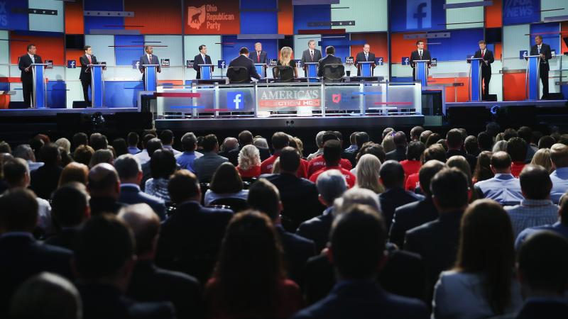 The audience watches last month's Republican debate, which aired on Fox News.