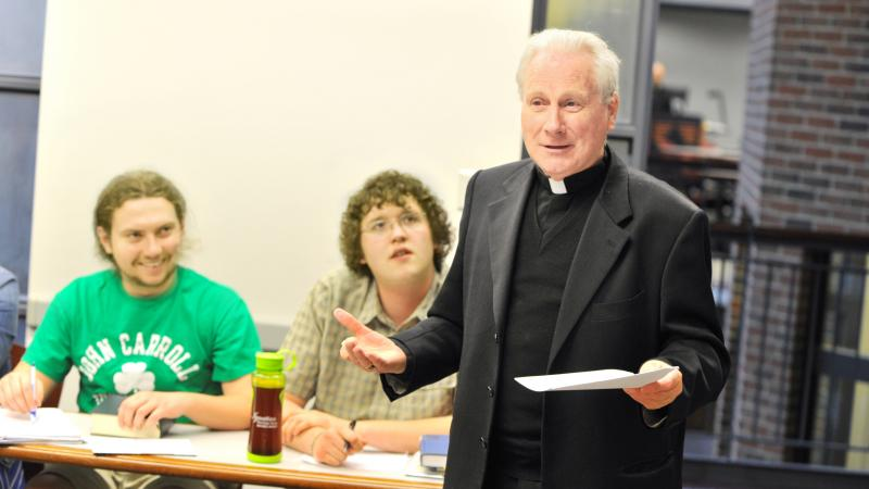 Archbishop Michael Fitzgerald is one of the Catholic Church's top experts on Islam. He has served the Vatican in places such as Tunisia, Uganda and Egypt, and now is promoting interfaith understanding by teaching Jesuit students in Cleveland about the Qur