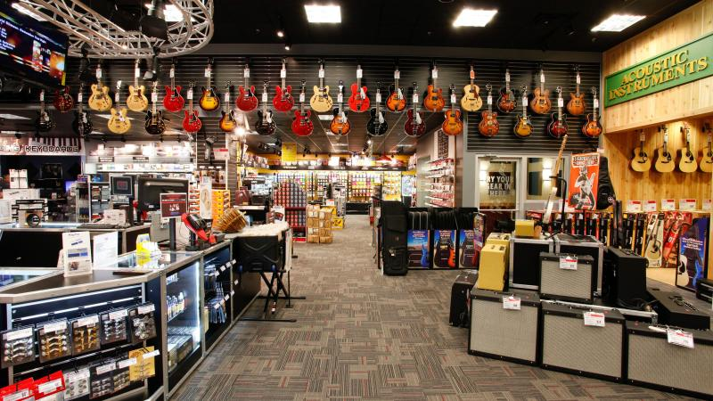 Noah Wall recorded Live at Guitar Center in Manhattan, but really, it could have been in any showroom.